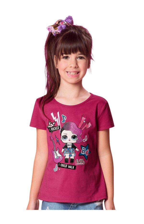 Blusa Lol Malwee Kids rosa menina