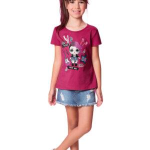 Blusa Lol Malwee Kids rosa menina corpo