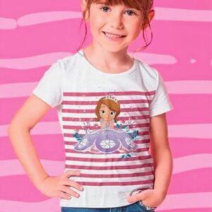 Blusa Malwee Kids Princesa Sofia Branca menina
