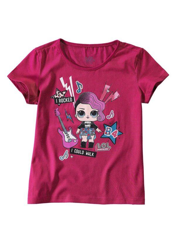 Blusa Lol Malwee Kids rosa