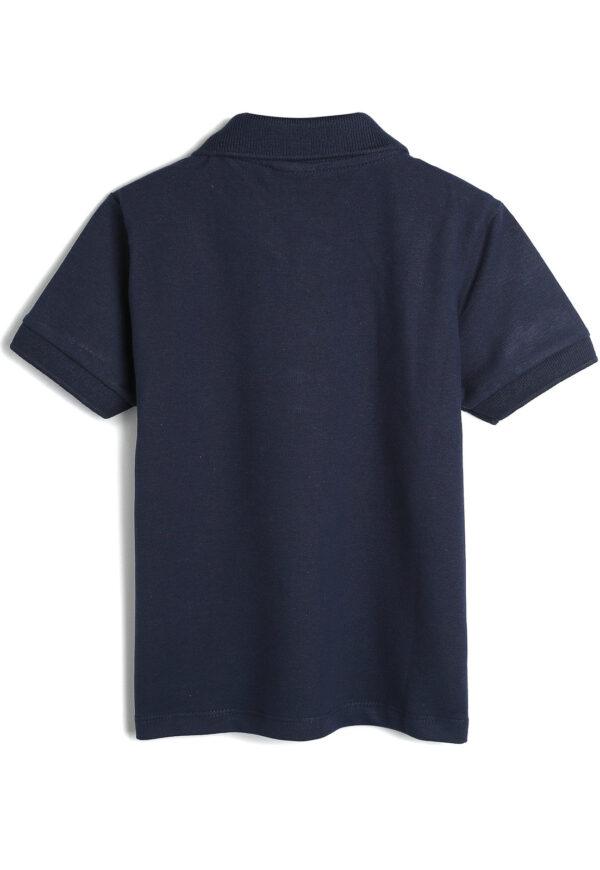 camisa polo malwee kids infantil lisa azul marinho costas