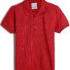 camisa polo malwee kids infantil lisa vermelha