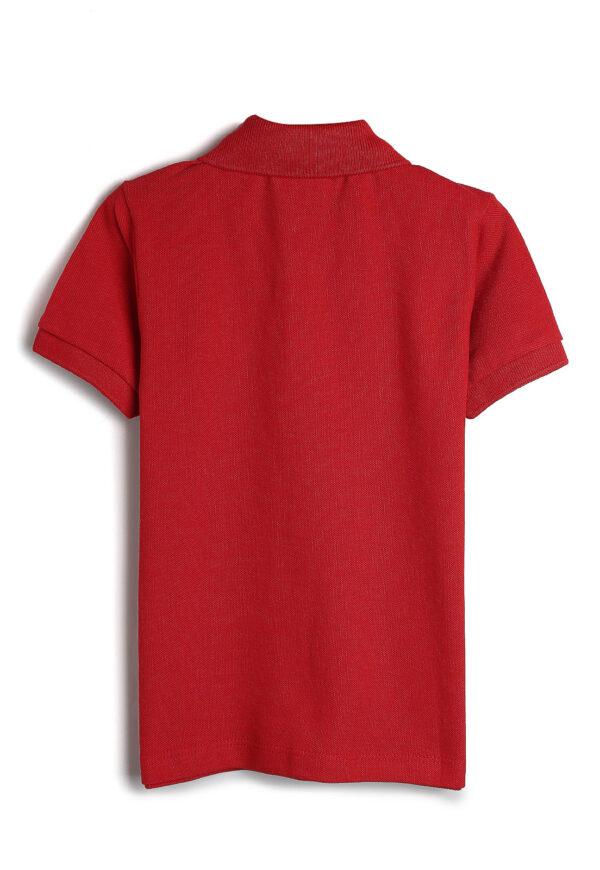camisa polo malwee kids infantil lisa vermelha costas