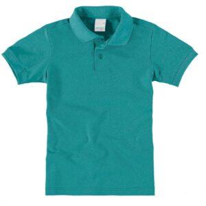 camisa polo malwee kids infantil lisa turquesa