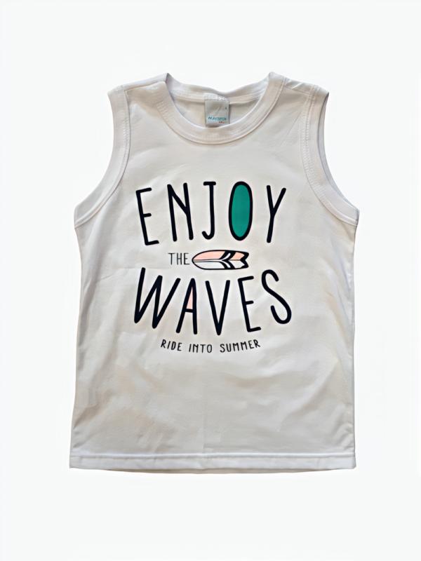 Camiseta regata masculina Malwee Menino Enjoy The Waves