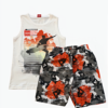 Conjunto Camiseta Regata Bege e Bermuda Kylly