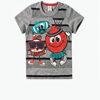 Camisa do Conjunto Infantil Zig Zig Zaa Aplique Abre e Fecha Cinza