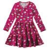 vestido infantil feminino rosa espacial