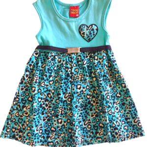 Vestido Kyly Coração com cinto