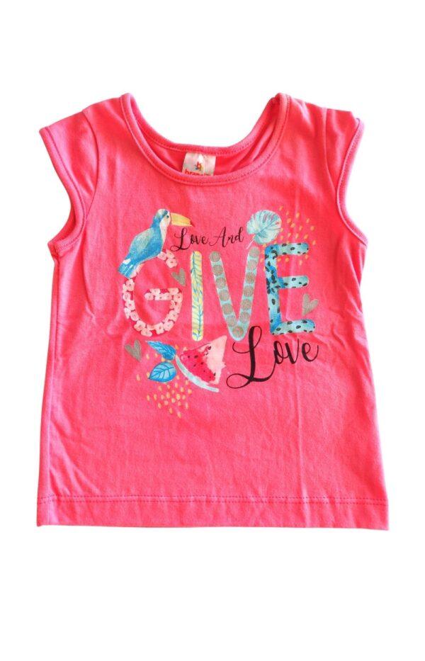 Blusa Conjunto love and give love Brandili