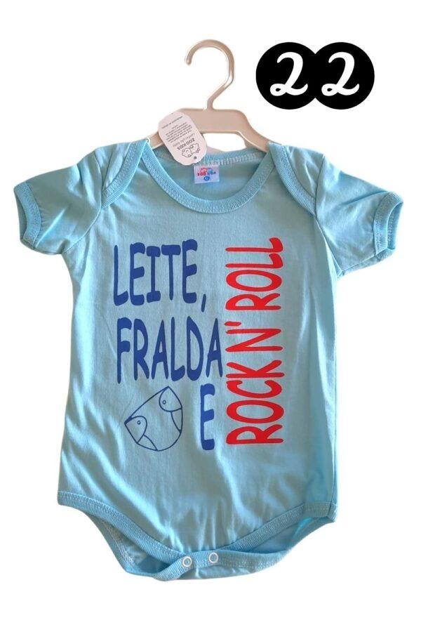 body zoo kids leite fralda rocknroll-azul