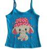 blusa pijama azul estampa elefante lêga maluca