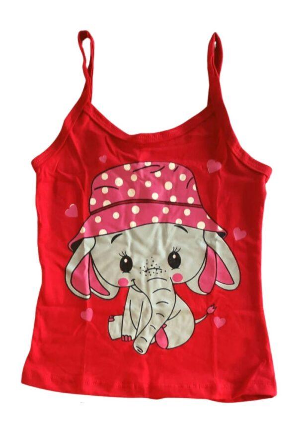 blusa pijama vermelho estampa elefante lêga maluca