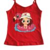Blusa pijama vermelho estampa menina lêga maluca