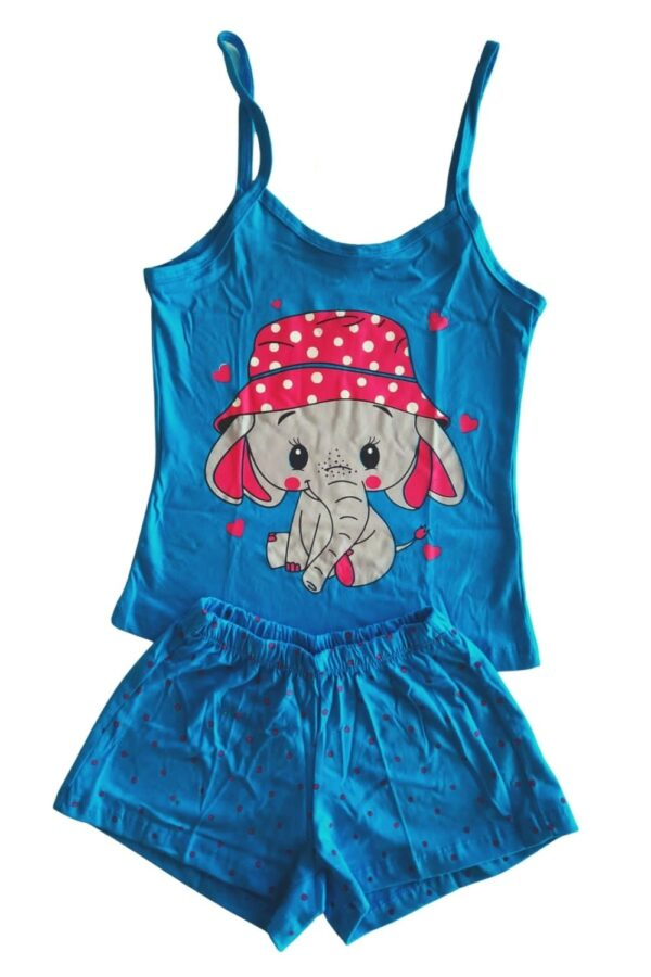 pijama azul estampa elefante lêga maluca