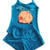 pijama azul estampa porquinho