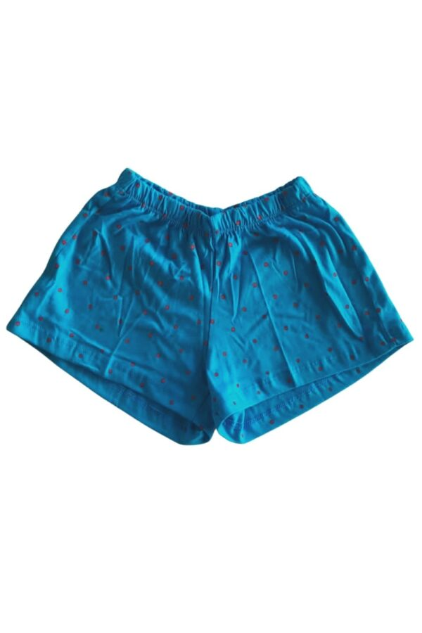 short pijama azul estampa elefante lêga maluca