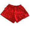 short pijama vermelho estampa elefante lêga maluca