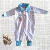 macacãozinho branco e azul bebe