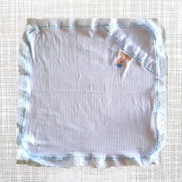 manta branco e azul bebe